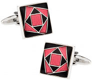Funky Pink & Black Cufflinks