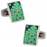 Foliage Green Cufflinks | Canada Cufflinks