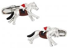 Hand Painted Horseracing Cufflinks