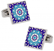 Kaleidoscope Cufflinks in Blue | Canada Cufflinks