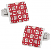 Pixelated Pink & Red Cufflinks | Canada Cufflinks
