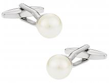 Swarovski Crystal White Pearl Cufflinks