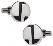 Abstract Carbon Fiber Cufflinks
