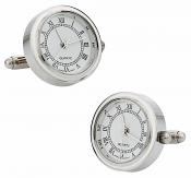 Silver Watch Cufflinks