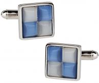 White & Blue Cufflinks