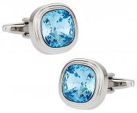 Aquamarine Crystal Cufflinks