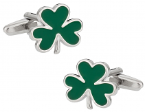 Green Clover Cufflinks