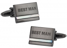 Best Man Cufflinks with Mother of Pearl