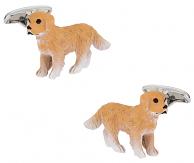 Painted Dog Cufflinks Swarovski