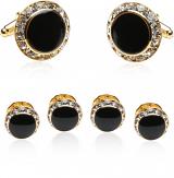 Black Gold and Crystal Formal Set
