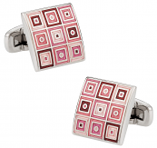 Quilted Cufflinks in Pink | Canada Cufflinks
