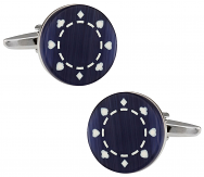 Glass Poker Chip Cufflinks