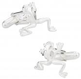 Frog Cufflinks in Sterling Silver