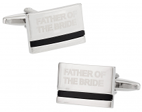 Father of the Bride Cufflinks with Onyx