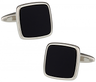 Conservative Black Cufflinks