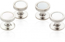 Mother of Pearl Studs in Silver Tone | Canada Cufflinks