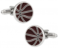Orange Basketball Cufflinks
