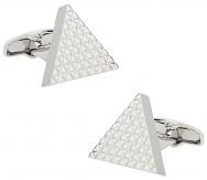 Triangle Cufflinks in Silvertone