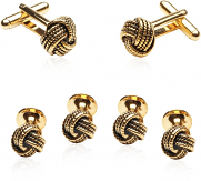 Gold Knot Formal Stud Sets