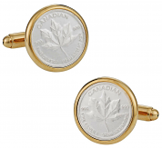 Canadian Maple Leaf Silver Bullion Cufflinks | Canada Cufflinks
