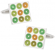 Artistic Green Cufflinks