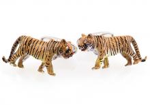 Tiger Cufflinks Swarovski Painted
