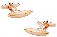 Rose Gold Cufflinks in Torpedo Shape