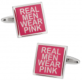 Real Men Wear Pink Cufflinks
