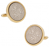 British Sixpence Coin Cufflinks
