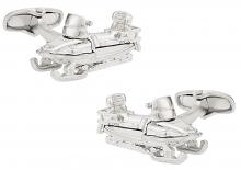 Silver Snowmobile Cufflinks