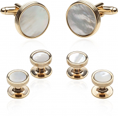 Mother of Pearl Gold Tuxedo Set