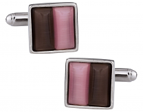 Pink & Coffee Cufflinks