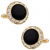 Black and Gold CZ Cufflinks