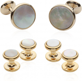 Mother of Pearl Stud Sets with Gold