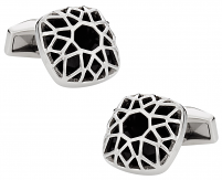 Domed & Caged Stainless Steel Cufflinks | Canada Cufflinks