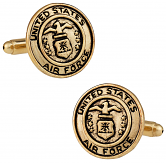 Gold Air Force Cufflinks USAF