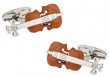 Wood Violin Cufflinks