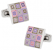 Quilted Cufflinks in Enamel | Canada Cufflinks