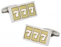 Lucky Sevens Slot Machine Cufflinks