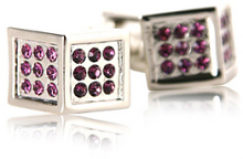Angled Crystal Cufflinks