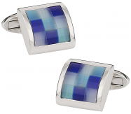 Blue Glass Mosaic Cufflinks