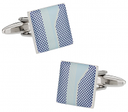 Unique Blue Print Cufflinks