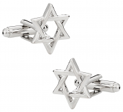 Star of David Cufflinks Silver