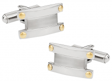 Cufflinks-and-Ties Cuffs with Gold Accents