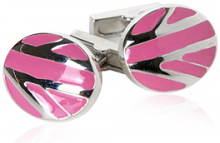 Pink Abstract Cufflinks