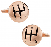 Rose Gold Stick Shift Cufflinks
