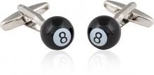 8 Ball Billiards Cufflinks