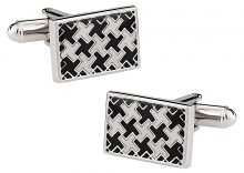 Detailed Silver Cufflinks