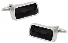 Faceted Black Onyx Cufflinks