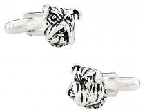 Bulldog Cufflinks in Sterling Silver